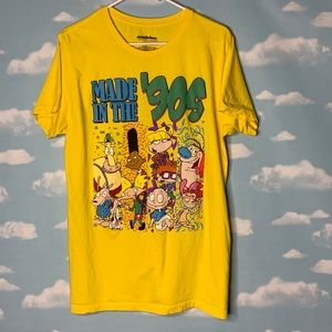 Nickelodeon 90s Toons Yellow T-shirt size Large